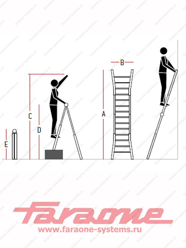 Телескопическая лестница Faraone TELES.T4